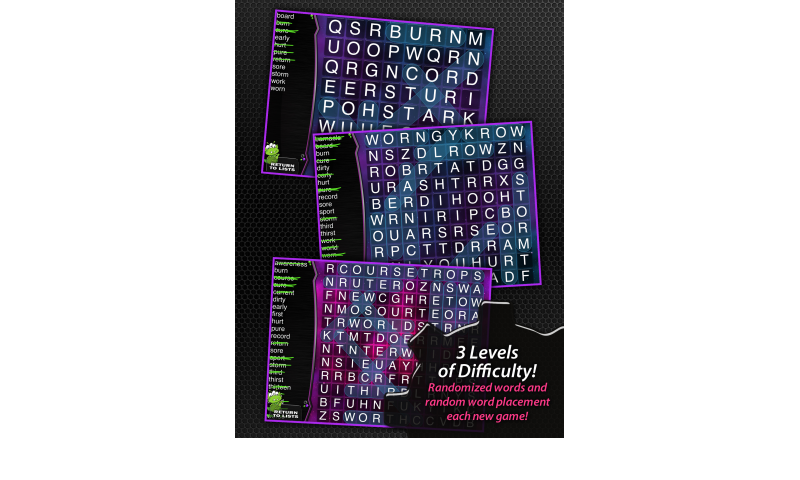 Learning Gems - Spelling Space - Word Search