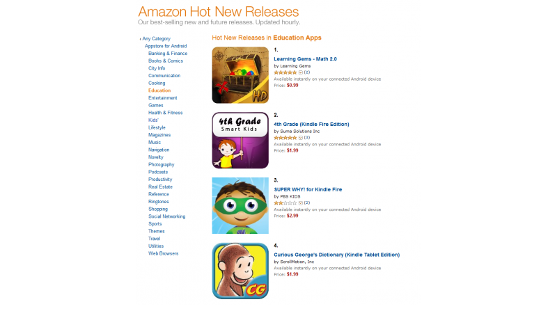 Ranked #1 in Amazon's Hot New Releases for Education Apps!