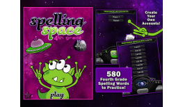 Learning Gems - Spelling Space - 4th Grade