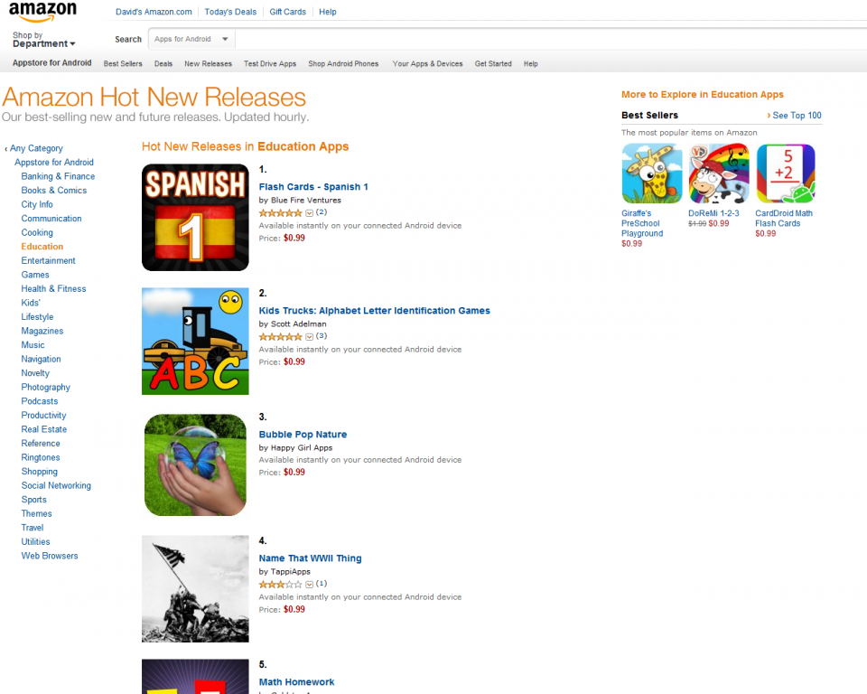 Learning Gems - Flash Cards - Spanish 1 Ranked #1 in Amazon's Hot New Releases for Educational Apps!